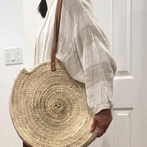 Madewell circular woven bag